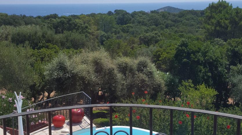 location villa de luxe avec piscine proche de la plage capicciola corse du sud