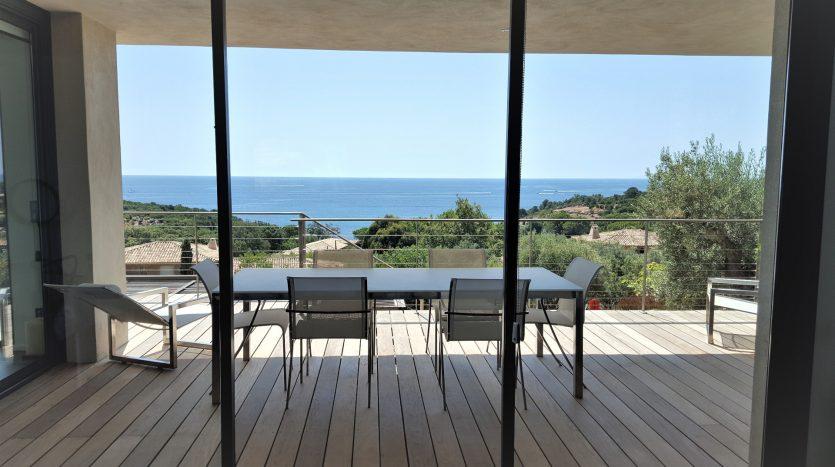 villa contemporaine terrasse vue mer