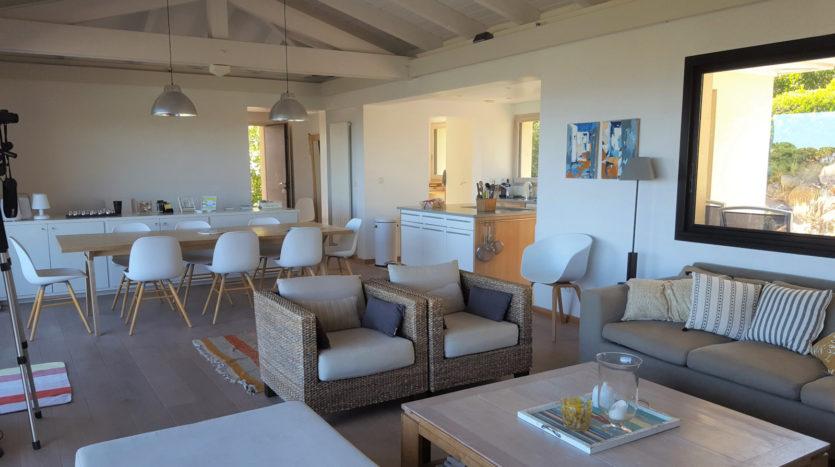 sejour location villa de luxe vue mer et piscine palombaggia santa giulia sud corse