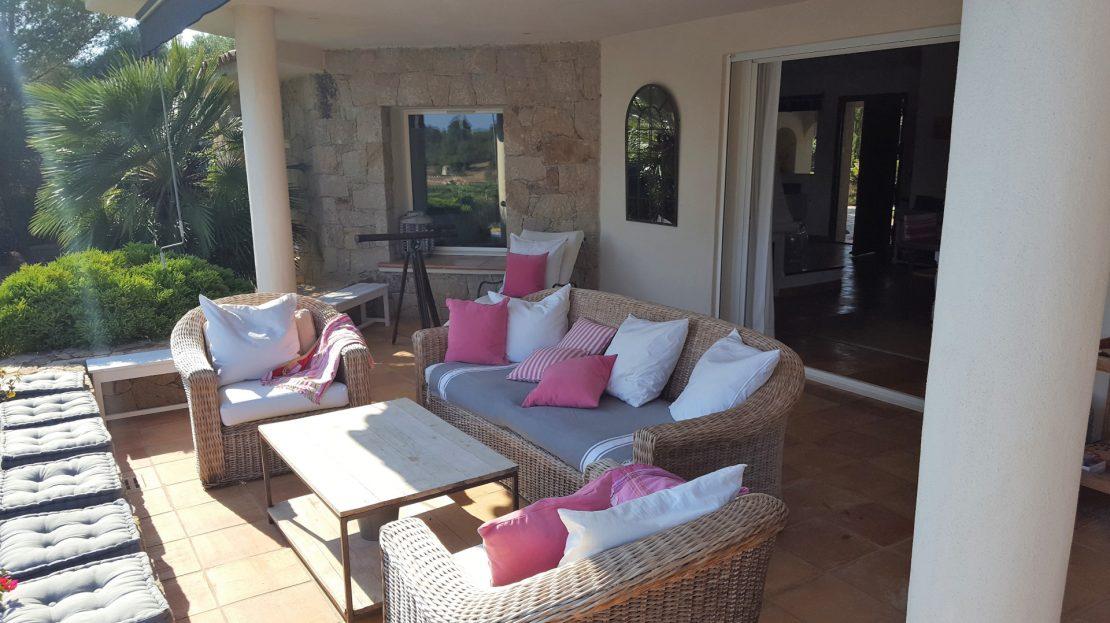 villa avec terrasse vue mer domaine Punta d'Arasu