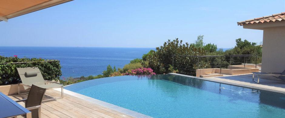 Location villa vue panoramique Palombaggia