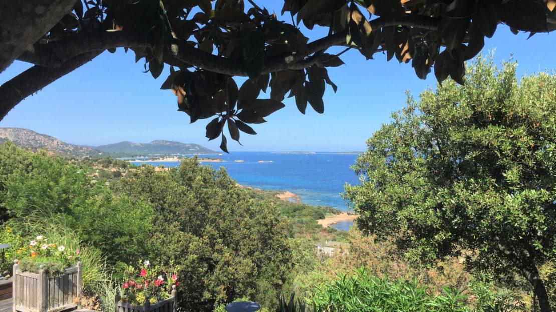 location villa de luxe piscine vue panoramique porto vecchio sud corse palombaggia
