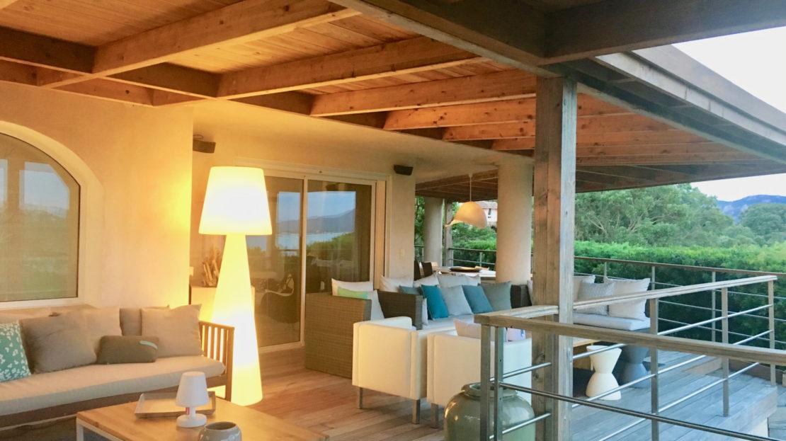 location villa de luxe piscine vue mer golf porto vecchio sud corse