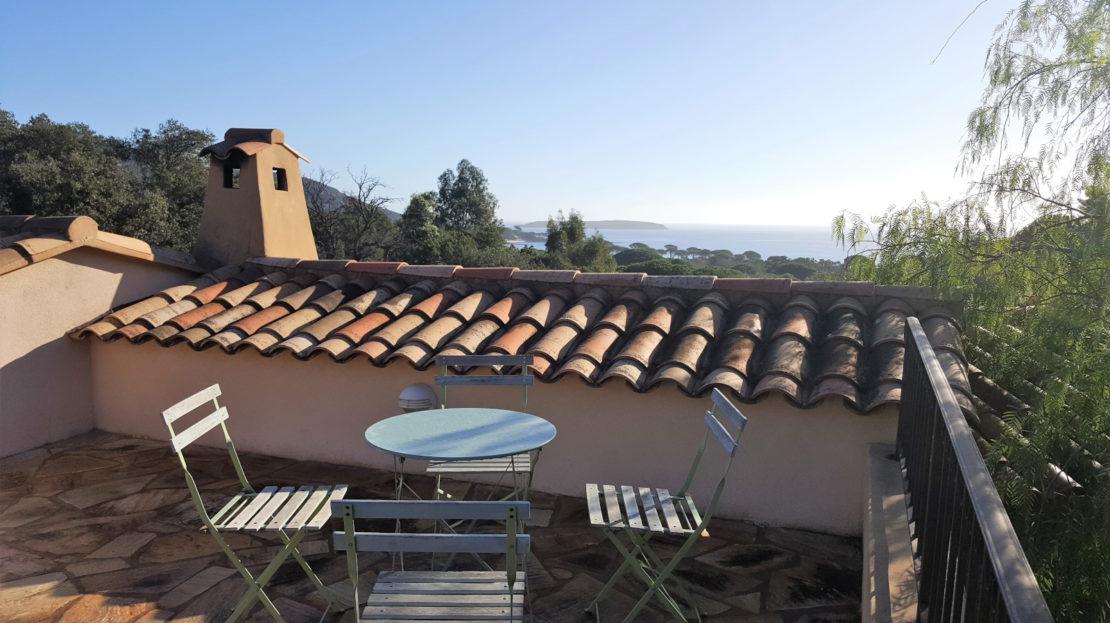 rooftop location villa de luxe vue mer avec piscine corse du sud palombaggia