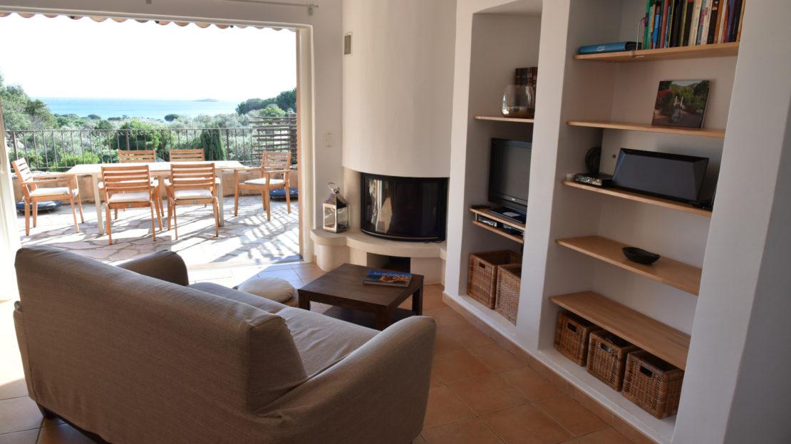salon location villa de luxe vue mer avec piscine corse du sud palombaggia