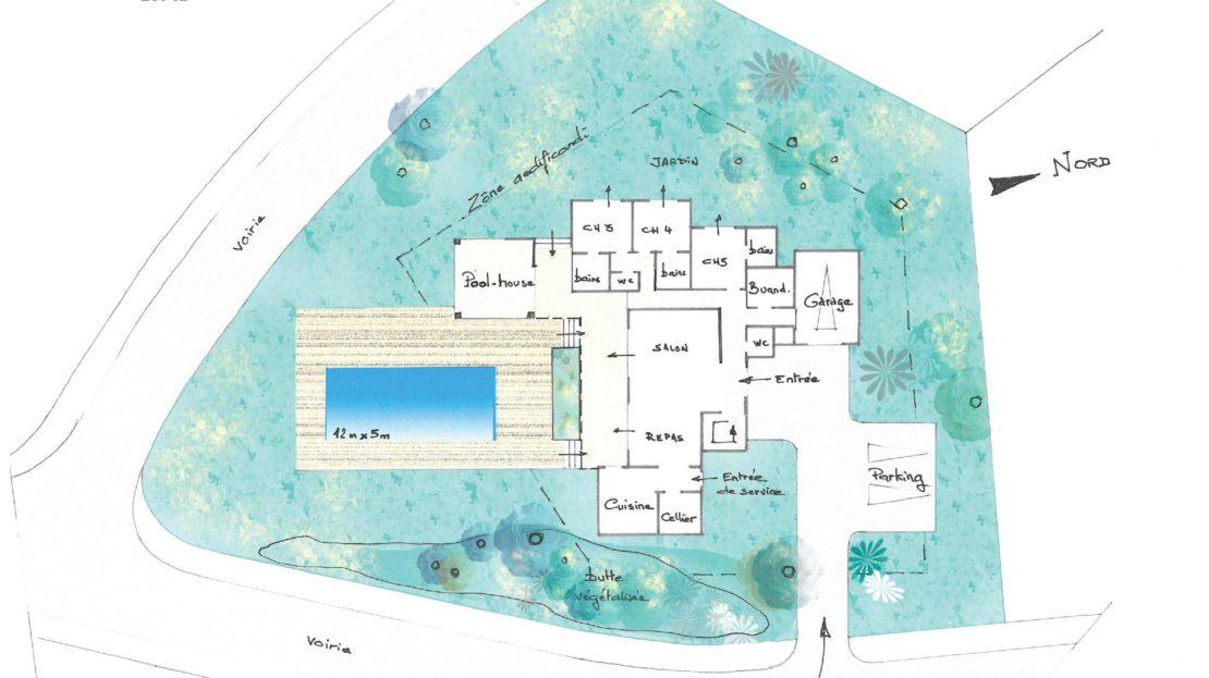 plan projet domaine d'araso corse du sud