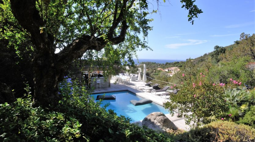 vente villa piscine vue mer palombaggia
