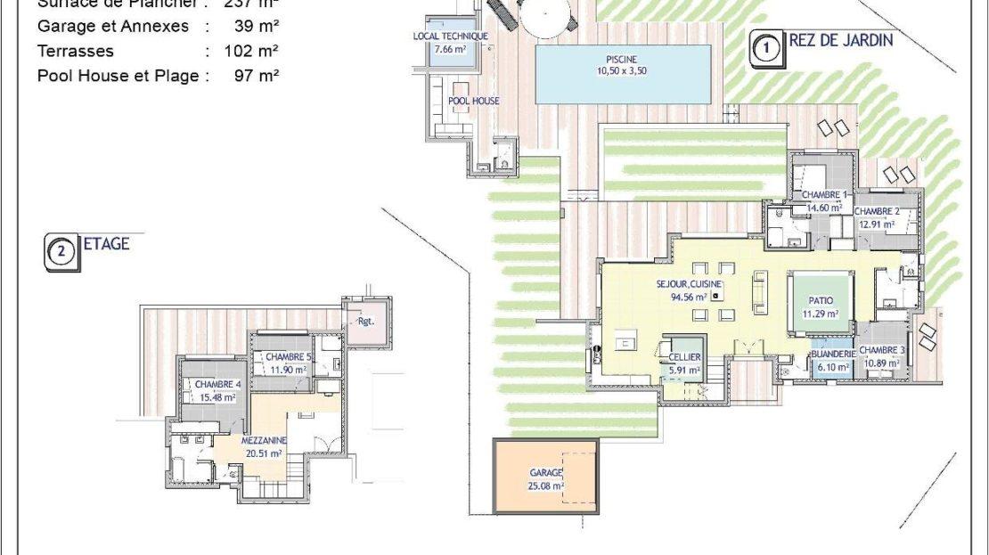Plan Vente de Villas Contemporaines