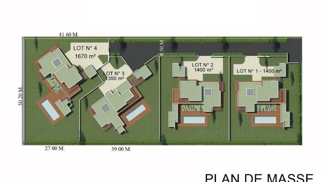 Plan ensemble Vente de Villas Contemporaines
